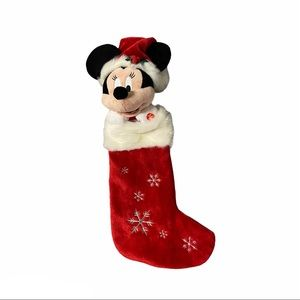 MINNIE MOUSE Musical Plush Head Christmas Stocking